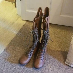 Breckelles brown high boots size 8.5 NEW